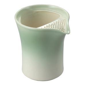 常滑焼 冷茶ポット 0-152 遊土里 17号青冷茶注器 300ml 2〜3杯用 クリーン茶こし|kintouen