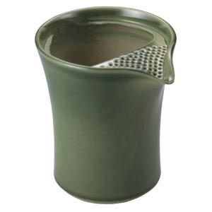 常滑焼 冷茶ポット 0-153 遊土里 17号織部釉冷茶注器 300ml 2〜3杯用 クリーン茶こし|kintouen