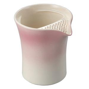 常滑焼 冷茶ポット 0-154 遊土里 17号ピンク冷茶注器 300ml 2〜3杯用 クリーン茶こし|kintouen