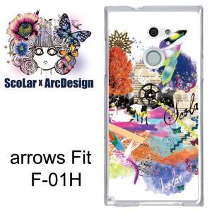 ScoLar スカラー アローズ フィット f01h F-01H/scr50012/フェザー メルヘン柄 kintsu