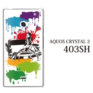 AQUOS CRYSTAL 2 403SH ケース カバー スマホケース スマホカバー アメ車ガール...