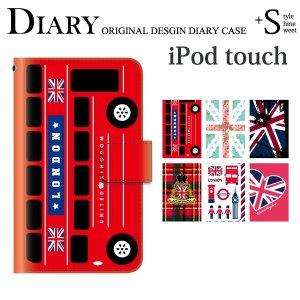 手帳型ケース iPod TOUCH 7 6 5 ケース /イギリス ユニオンジャック/iPod TO...