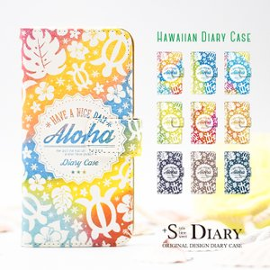 スマホケース 手帳型 galaxy s8 ケース 携帯ケース スマホカバー ギャラクシーs8 ハワイアン かわいい 夏|kintsu