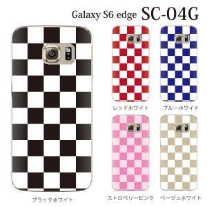 ギャラクシー s6 edge ケース GalaxyS6 エッジ カバー /  チェッカーフラッグ (SC-04G/SCV31/404SC)|kintsu