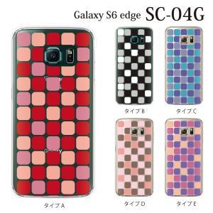 ギャラクシー s6 edge ケース GalaxyS6 エッジ カバー /  NISHIKIGOI タイル柄 (SC-04G/SCV31/404SC)|kintsu