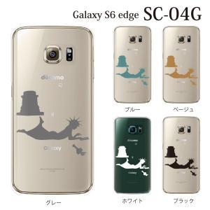 ギャラクシー s6 edge ケース GalaxyS6 エッジ カバー /  マリアンヌ 自由になりすぎる女神 (クリア) (SC-04G/SCV31/404SC)|kintsu