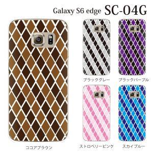 ギャラクシー s6 edge ケース GalaxyS6 エッジ カバー /  アーガイルチェック (SC-04G/SCV31/404SC)|kintsu