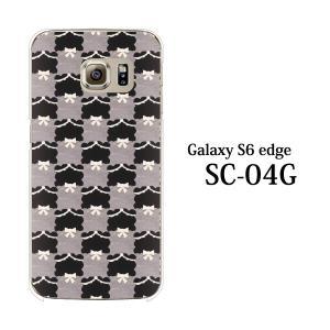 ギャラクシー s6 edge ケース GalaxyS6 エッジ カバー /  フェルト生地風 チェック柄TypeA (SC-04G/SCV31/404SC)|kintsu