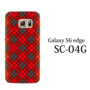 ギャラクシー s6 edge ケース GalaxyS6 エッジ カバー /  タータンチェック (SC-04G/SCV31/404SC)|kintsu