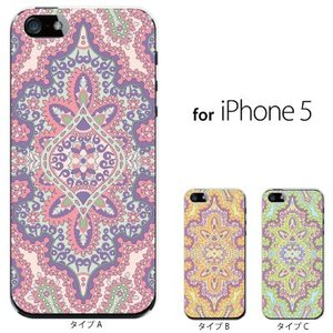 iPhone SE iPhone5S iPhone5 スマホケース / ペイズリー TYPE|kintsu