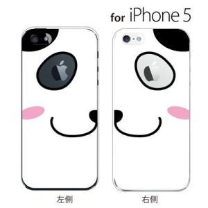 iPhone SE iPhone5S iPhone5 スマホケース アップルマーク / パンダ フェイス|kintsu