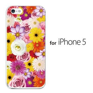 iPhone SE iPhone5S iPhone5 スマホケース / フルフラワー 花がいっぱい