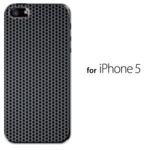 iPhone SE iPhone5S iPhone5 スマホケース / ブラック メタル 鉄の格子模様|kintsu