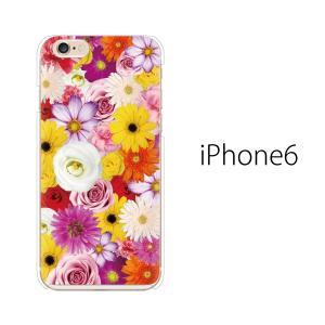 スマホケース iphone6s アイフォン6s アイホン スマホカバー 携帯ケース フルフラワー 花...