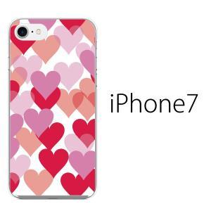 iPhone7 ケース アイフォン7 ソフト ケース TPU カバー スマホケース/ ハートがたくさんハートフル kintsu