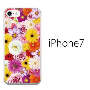 iPhone7 ケース アイフォン7 ソフト ケース TPU カバー スマホケース/ フルフラワー ...