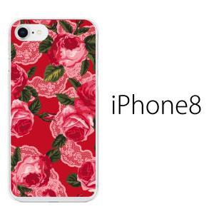 スマホケース アイフォン8プラス iphone8plus iphone8プラス 携帯ケース スマホカバー ローズ フラワー 薔薇 レース|kintsu
