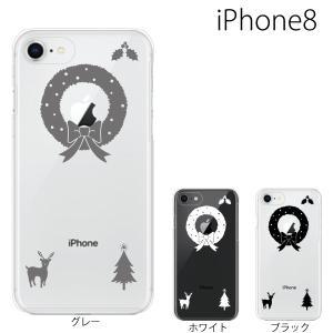 スマホケース アイフォン8プラス iphone8plus iphone8プラス 携帯ケース スマホカバー クリスマスリース|kintsu