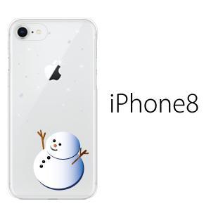 スマホケース アイフォン8プラス iphone8plus iphone8プラス 携帯ケース スマホカバー 雪だるま クリア|kintsu