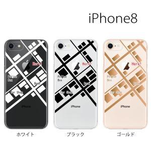 スマホケース アイフォン8プラス iphone8plus iphone8プラス 携帯ケース スマホカバー 地図 マップ|kintsu
