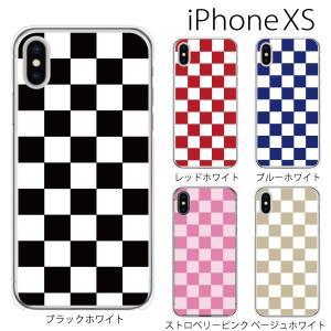 スマホケース iphonexs ケース スマホカバー 携帯ケース アイフォンxs ハード カバー チェッカーフラッグ|kintsu