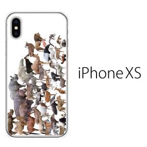 スマホケース iphonexs ケース スマホカバー 携帯ケース アイフォンxs ハード カバー アニマルズ 動物|kintsu
