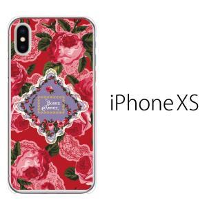 スマホケース iphonexs ケース スマホカバー 携帯ケース アイフォンxs ハード カバー ローズフラワー 薔薇 BONNE ANNEF|kintsu
