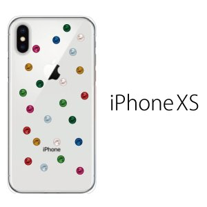 スマホケース iphonexs ケース スマホカバー 携帯ケース アイフォンxs ハード カバー アップルマーク キャンディ ドット|kintsu