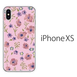 スマホケース iphonexs ケース スマホカバー 携帯ケース アイフォンxs ハード カバー フルフラワー|kintsu
