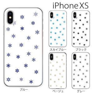 スマホケース iphonexs スマホカバー 携帯ケース アイフォンxs TPU素材 カバー スノウクリスタル 雪の結晶 TYPE3|kintsu