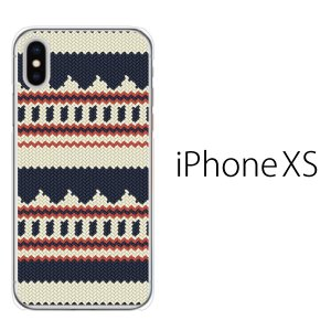 スマホケース iphonexs ケース スマホカバー 携帯ケース アイフォンxs ハード カバー ニット風 デザイン TYPE1|kintsu