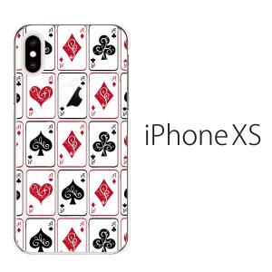 スマホケース iphonexs ケース スマホカバー 携帯ケース アイフォンxs ハード カバー トランプ柄|kintsu