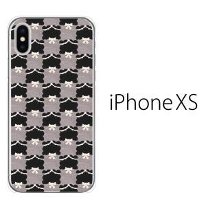 スマホケース iphonexs ケース スマホカバー 携帯ケース アイフォンxs ハード カバー フェルト生地風 チェック柄 TypeA|kintsu