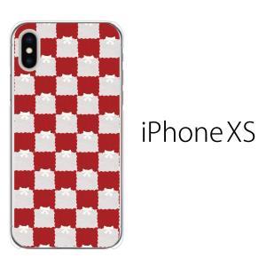 スマホケース iphonexs ケース スマホカバー 携帯ケース アイフォンxs ハード カバー カバー フェルト生地風 チェック柄 TypeB|kintsu