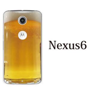 Google Nexus 6 ネクサス6 ケース クリアケース ワイモバイル Y!mobile 携帯 ケース カバー ビール TYPE01