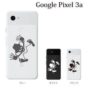 スマホケース ハードケース google pixel 3a クリアケース ケース スマホカバー おしゃれ カバー  スカルハット クリア|kintsu