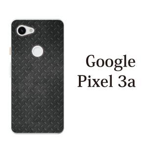 スマホケース ハードケース google pixel 3a クリアケース ケース スマホカバー おしゃれ カバー  ブラック メタル 鉄風|kintsu