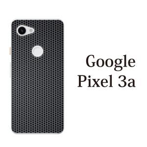 スマホケース ハードケース google pixel 3a クリアケース ケース スマホカバー おしゃれ カバー  ブラック メタル 鉄の格子模様|kintsu