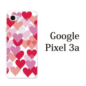 スマホケース ハードケース google pixel 3a クリアケース ケース スマホカバー おしゃれ カバー  ハートがたくさん♪ハートフル|kintsu