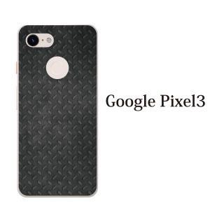 スマホケース ハードケース google pixel 3 クリアケース ケース スマホカバー おしゃれ カバー ブラック メタル 鉄風|kintsu