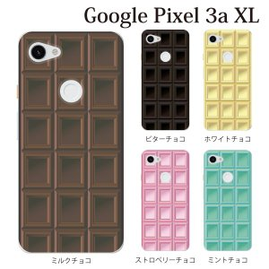 スマホケース ハードケース google Pixel 3a xl クリアケース ケース スマホカバー おしゃれ カバー  チョコレート 板チョコ TYPE2|kintsu