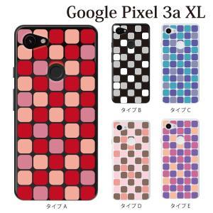 スマホケース ハードケース google Pixel 3a xl クリアケース ケース スマホカバー おしゃれ カバー  NISHIKIGOI タイル柄|kintsu