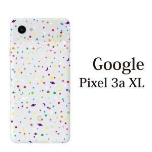 スマホケース ハードケース google Pixel 3a xl クリアケース ケース スマホカバー おしゃれ カバー  ポップ・スター 星 SPACE クリア|kintsu