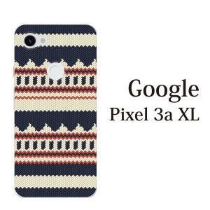 スマホケース ハードケース google Pixel 3a xl クリアケース ケース スマホカバー おしゃれ カバー  ニット風 デザイン TYPE1|kintsu