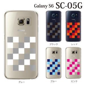ギャラクシー S6 ケース SC-05G GalaxyS6 カバー / チェック 市松模様 ブロック (ギャラクシーS6/SC05G/ドコモ)|kintsu