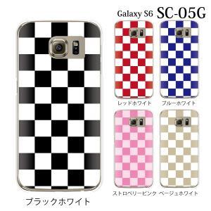 ギャラクシー S6 ケース SC-05G GalaxyS6 カバー / チェッカーフラッグ (ギャラクシーS6/SC05G/ドコモ)|kintsu