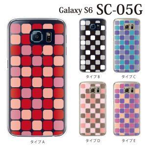 ギャラクシー S6 ケース SC-05G GalaxyS6 カバー / NISHIKIGOI タイル柄 (ギャラクシーS6/SC05G/ドコモ)|kintsu