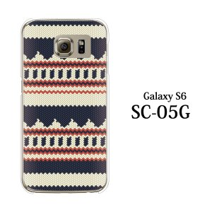 ギャラクシー S6 ケース SC-05G GalaxyS6 カバー / ニット風 デザイン TYPE1 (ギャラクシーS6/SC05G/ドコモ)|kintsu