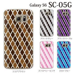 ギャラクシー S6 ケース SC-05G GalaxyS6 カバー / アーガイルチェック (ギャラクシーS6/SC05G/ドコモ)|kintsu