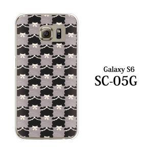 ギャラクシー S6 ケース SC-05G GalaxyS6 カバー / フェルト生地風 チェック柄TypeA (ギャラクシーS6/SC05G/ドコモ)|kintsu